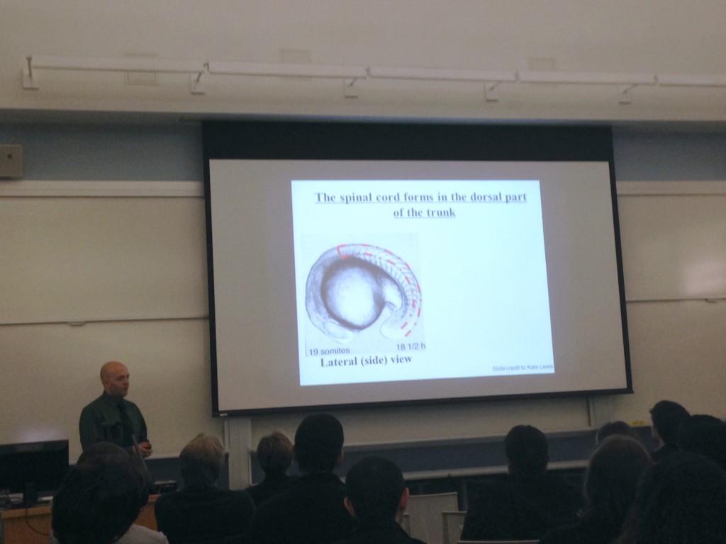 IGERT Fellow, Billy Haws presenting during 2015 IGERT Retreat