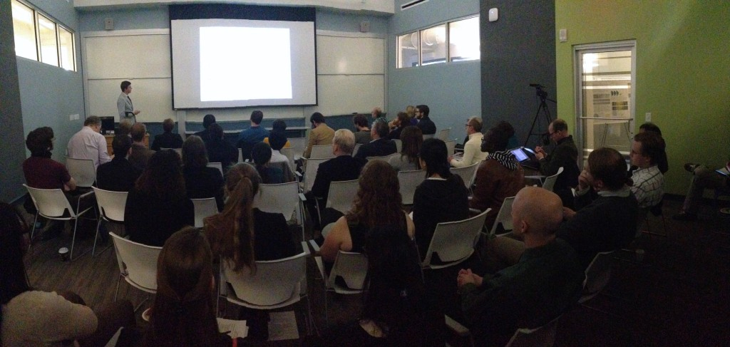 IGERT Fellow, Jay Tinklepaugh presenting during 2015 IGERT Retreat