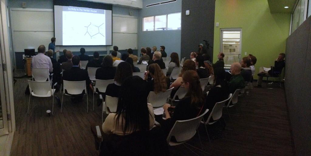 IGERT Fellow, Michael Czajkowski presenting during 2015 IGERT Retreat